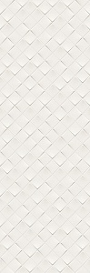 MONOCHROME MAGIC 40X120 DÉCOR WHITE GLOSSY