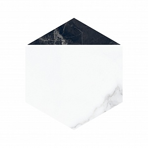 NOCTURNE 20X23 HEXAGON WHITE GLOSSY