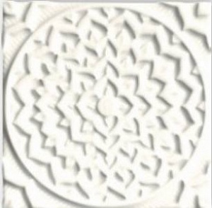 ADEH4001 Earth Relieve Mandala Cosmos Navajo White 15X15
