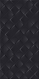 MONOCHROME MAGIC 30X60 DÉCOR BLACK GLOSSY